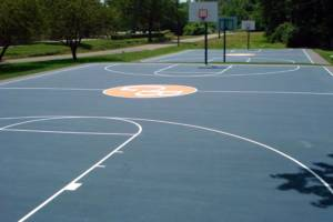 Indiana and Midwest Basketball Court Athletic Markings for Schools, University, and Home